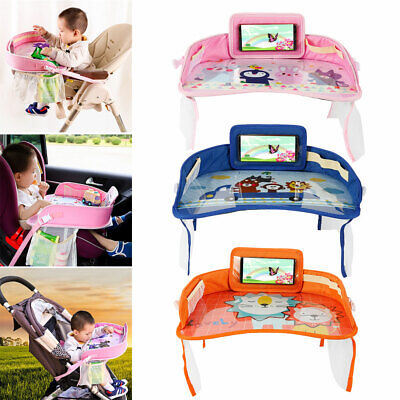 Kids Car Seat Tray Safety Travel Baby Drawing Board Table Child Snack Waterproof