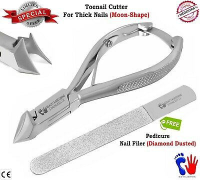 Toenail Nipper Clipper Thick Toe Nails Cutter Moon Shape Clippers for Podiatrist