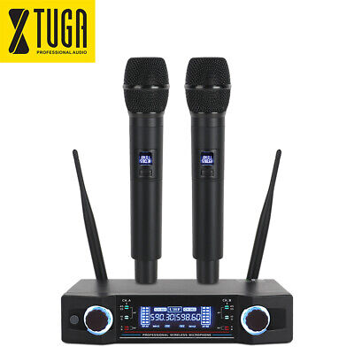 UHF Wireless Microphone System UW-100 2 Channel Dual Super Cardioid Handheld Mic