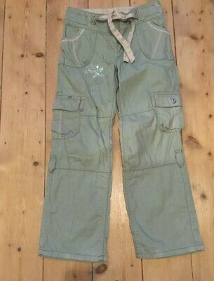 Next Girls Trousers 9 years height 134cm green summer casual embroidered fab con