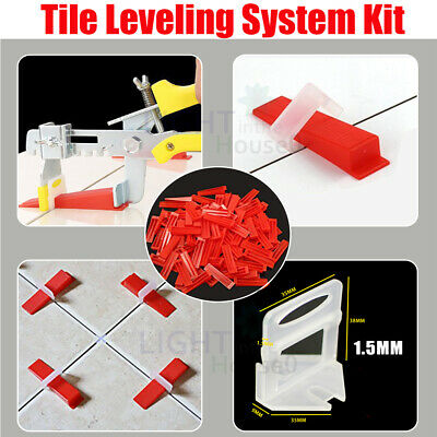 Tile Leveling System Kit With Wedges Levelling Spacer Tool Wall Floor Tiling AU