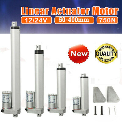 12/24V DC High Speed Linear Actuator 200N / 750N & Mounting Brackets 30mm 50mm/s