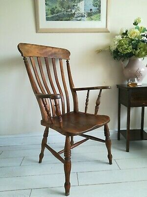 Antique Grandfather Slat-Back Windsor Chair circa 1860 - 1890
