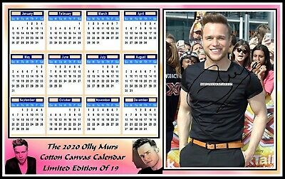Olly Murs, 2020, A4 Signed, Cotton Canvas CALENDAR. Limited Edition (OM-1)