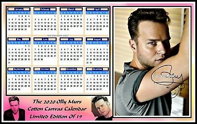 Olly Murs, 2020, A4 Signed, Cotton Canvas CALENDAR. Limited Edition (OM-4)