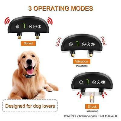 Rechargeable 7 Mode Auto Anti Bark Collar Stop Dog Barking for All Size