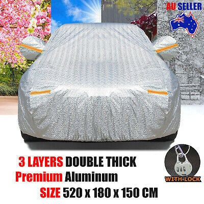 Full Car Cover Waterproof Aluminum Rain Outdoor Dust Sun UV Protection Universal