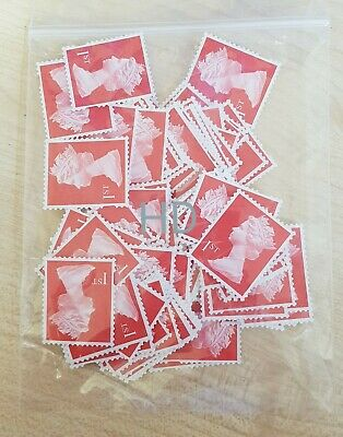 200 1st Class Security Stamps Unfranked OFF PAPER No Gum