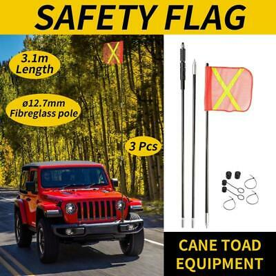 3M High Sand Safety Flag 4WD Off-road Vehicle Warning Sand Dune Simpson Desert