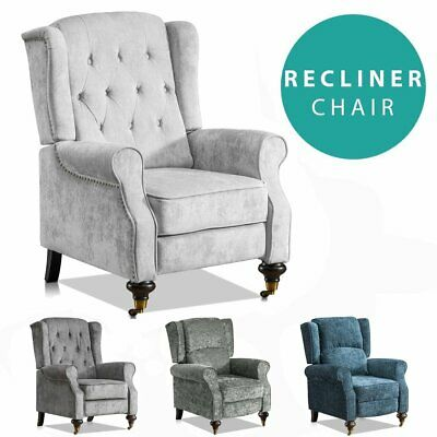 Vintage Armchair Sofa Recliner Lounge Fabric Tub Chair Seat Home Armchair