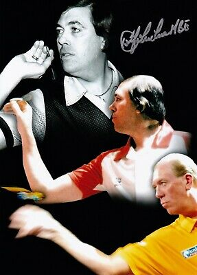 JOHN LOWE DARTS HAND SIGNED PHOTO AUTHENTIC + COA - 10x8