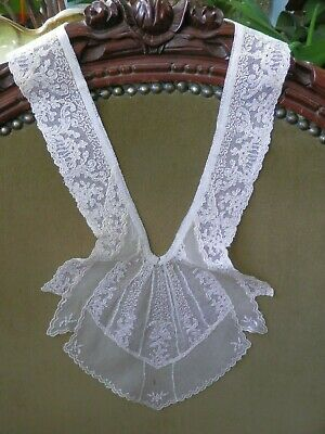 Large Antique Victorian Hand Made Lace Collar Ruff Jabot