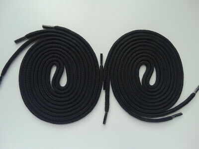 Back To School 2 x Pairs 100cm Strong Black Round shoe Trainer Laces