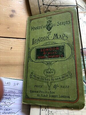 The Handy Series Of London Maps: London 4Half Miles Round Charing Cross Vintage