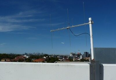 DUAL BAND YAGI ANTENNA 2m 70cm VHF UHF RADIO STAINLESS STEEL SATELLITE HAM