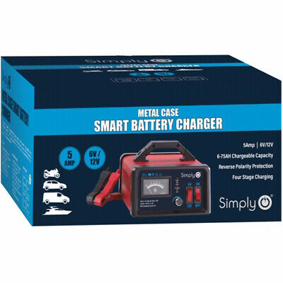 Simply 5A 6V / 12V Smart Vehicle Battery Charger (Cars, Motorbikes, Mopeds etc)