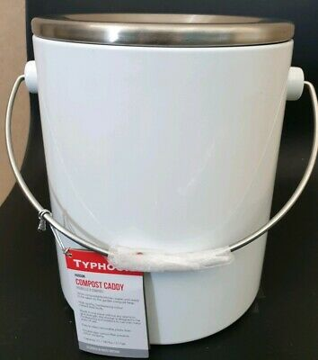Typhoon Hudson White Compost Caddy 3 Litre