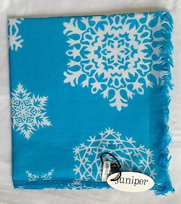 Turquoise Snowflake Scarf By Juniper