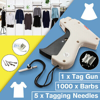 Clothes Garment Price Label Tagging Tags Gun Machine+1000 Barbs+5 Steel  AU