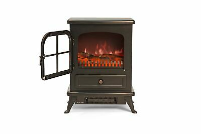 Igenix Ig9430 Freestanding Electric Stove Fireplace Heater Log