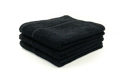 Black Bleach Resistant Hairdressing Towels Salon Beauty Barber Towels 50x85cm