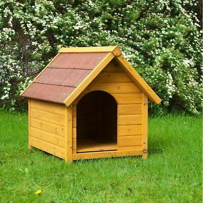 Wood Dog Kennel Classic Strong Outdoor Waterproof Small Medium Large All Weather