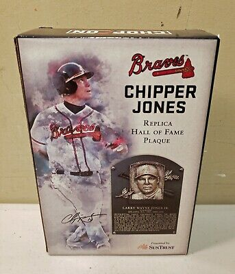 Chipper Jones Replica Hall Of Fame Plaque SunTrust Park SGA Atlanta Braves 8-10