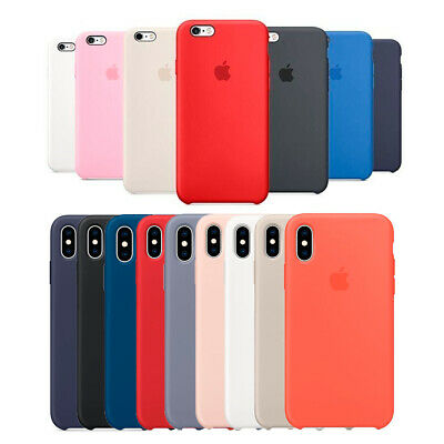 Funda silicona Apple iPhone 6/6s 7/8 8 Plus Xs Max XR carcasa original