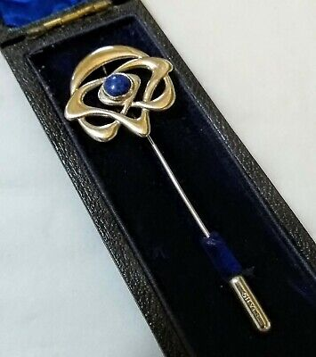 Art Nouveau Silver & Lapis Lazuli Stick Pin In The Style Of Archibald Knox c1890