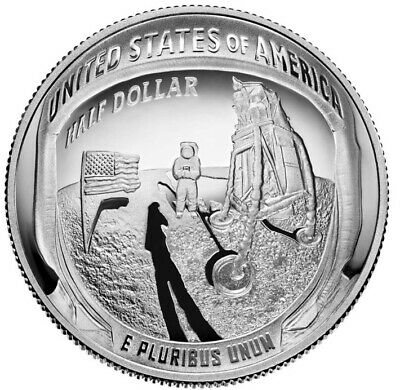 2019 S Apollo 11 50th Anniversary Proof Clad  Half Dollar in Original Capsule