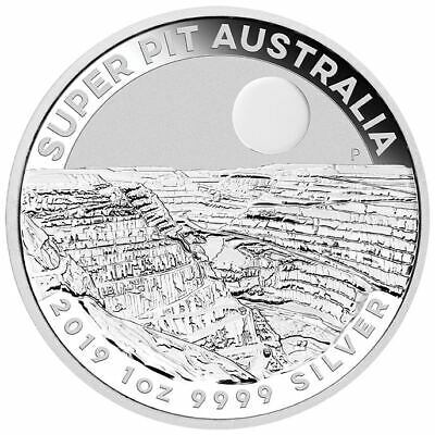 2019 Super Pit 1oz .9999 Silver Bullion Coin - The Perth Mint FREE CAPSULE