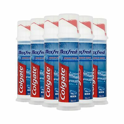 Colgate Max Fresh with Cooling Crystals Toothpaste Pump 6 x 100ml Multipack .