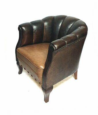 Vintage Chesterfield Ledersessel - englischer Clubsessel
