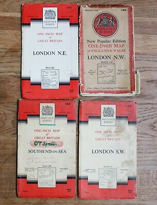 Ordnance Survey Maps LONDON 1 Inch to 1 Mile Vintage OS Map South East Essex