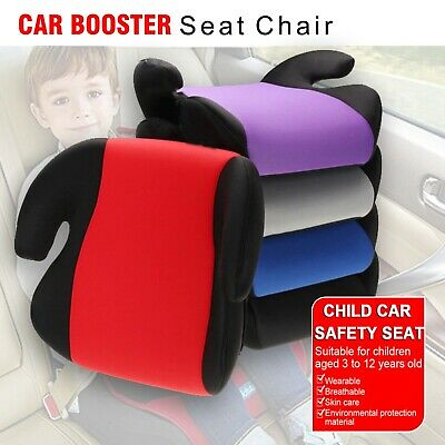 Car Booster Seat Chair Cushion Pad For Toddler Children Child Kids Sturdy 3-12 Y