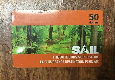 Sail Gift Card - $50 Mail or Email Delivery