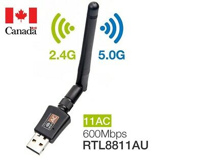 USB WIFI Adapter Dual Band 2.4/5.8Ghz 600Mbps with Antenna for Desktop/Laptop