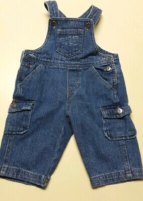 Calvin Klein Jeans Infant Boys Denim Blue Jean Overalls Set Size 3-6 Months