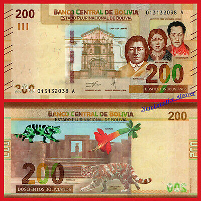 BOLIVIA 200 Bolivianos 2019 NEW DESIGN Pick New  SC / UNC