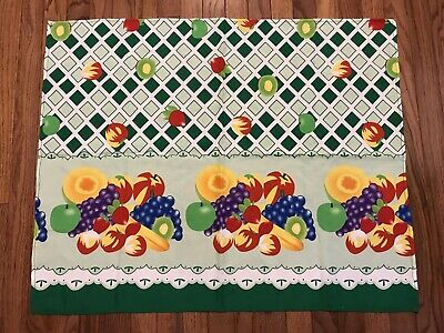 """Vintage Small Fruit Themed Polyester Tablecloth 27"""" X 33.5"""" (W1)"""