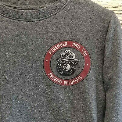 Mighty Fine Sweatshirt Women XS Smokey Bear Only You Can Prevent Forest Fires
