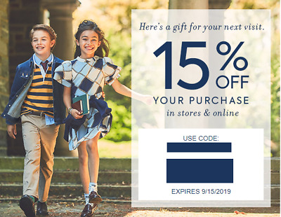 Janie and Jack 15% off coupon (not 20% off) - IN STORE & ONLINE - Exp 8/31