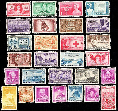 Vintage Us Postage Stamps 1948 Complete Year Set - All Mint Never Hinged