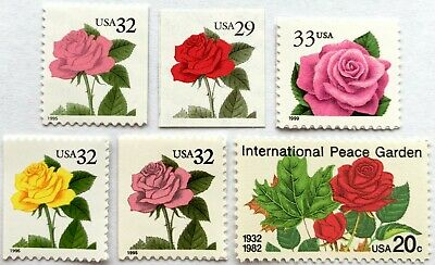 US Different LOVE Stamps, FLOWER- ROSES, 6PC LOT Mint NEVER HINGED- MNH