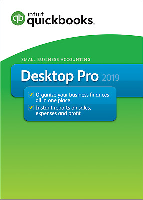 NEW! Intuit QuickBooks Desktop Pro 2019 - 1 user. PC DOWNLOAD + CD ROM