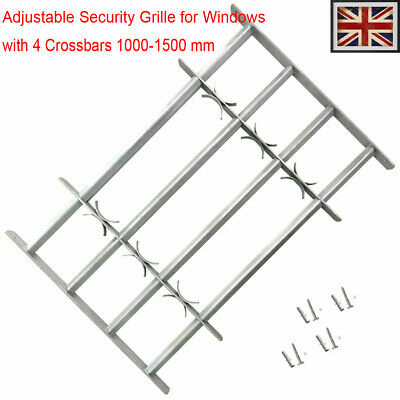 Adjustable Security Grille for Windows with 4 Crossbar 1000-1500mm Safe steel
