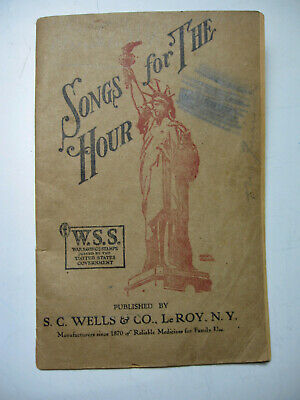 "Early 1900's ""Songs for the Hour"" Booklet from Patent Medicine Company"