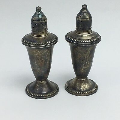 Vintage Sterling Silver Salt and Pepper Shakers Duchin Creation Weighted