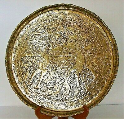 "Unusual Persian antique  ""Spies returning from Canaan"" LARGE plate"