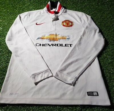 manchester united england football small mans nike long sleeved 2015 away shirt